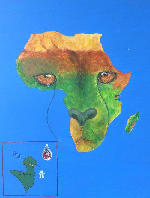 die Serengeti darf nicht sterben - 0,60 x 0,80 m - Acryl auf Leinwand