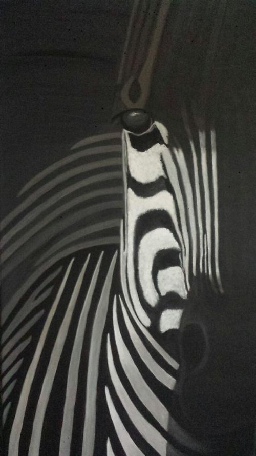 Gestreiftes - 0,50 x 1,00 m - Acryl auf Leinwand