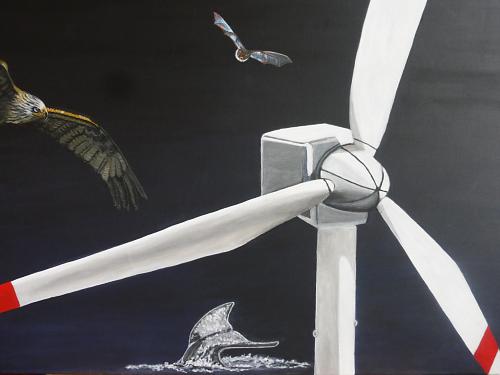 Windkraftanlagen TODschick - 0,70 x 0,50 m - Acryl auf Leinwand